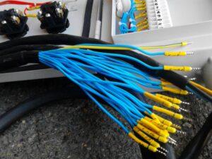 Многожильный кабельный шлейф к электроприводу задвижки
